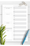 Download Undated Daily Planner Template - Original Style - Printable PDF
