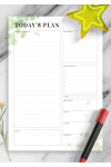 Printable Undated Planner with Daily Checklist PDF Download