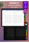 Download Weekly Digital Planner PDF for iPad (Light Theme) - Printable PDF