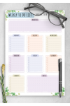 Printable Weekly To Do List - Floral Style PDF Download