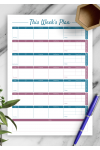 Download Weekly fitness and meal template - Printable PDF
