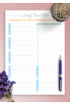 Printable Weekly Meal Plan and Shopping List PDF Download