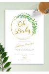 Download Willow Wreath Baby Shower Invitation - Printable PDF