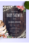 Printable Wood Rustic Baby Shower Invitation PDF Download