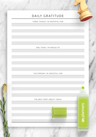 Download Daily Gratitude Template - Printable PDF