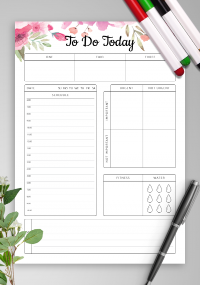 Download To Do Today - Printable PDF