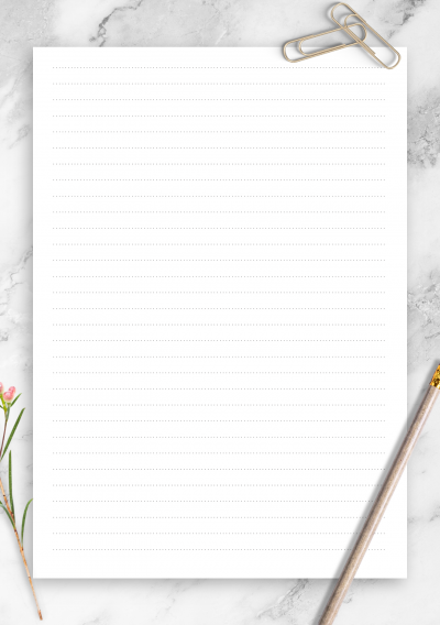 Printable Dotted Lined Paper Printables 6.35 mm line height PDF Download