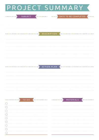 Download Printable Student Planner Casual Style Pdf