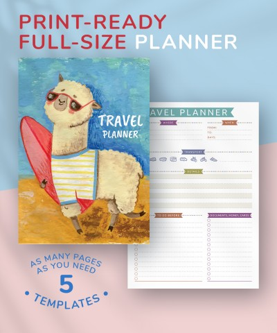 Download Travel Planner - Casual Style - Printable PDF
