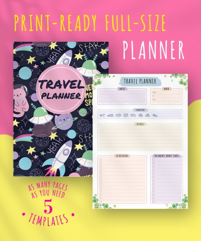 Download Travel Planner - Floral Style - Printable PDF