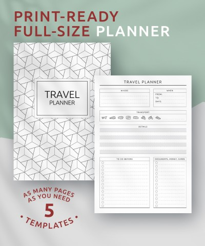Printable Travel Planner - Original Style PDF Download