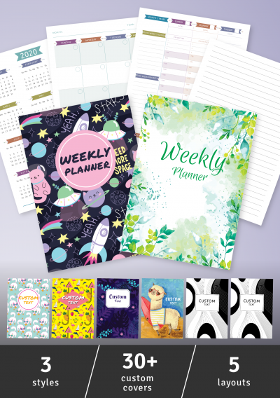 Printable Weekly Planner - Casual Style - Undated PDF Download