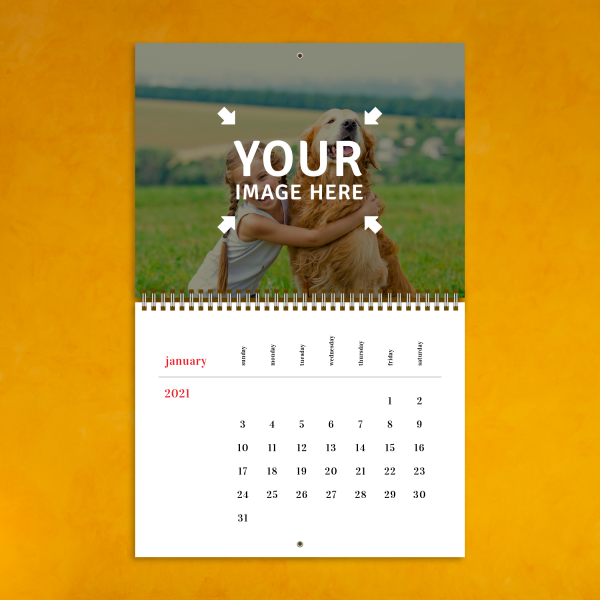 Download Minimalist Photo Calendar - Printable PDF