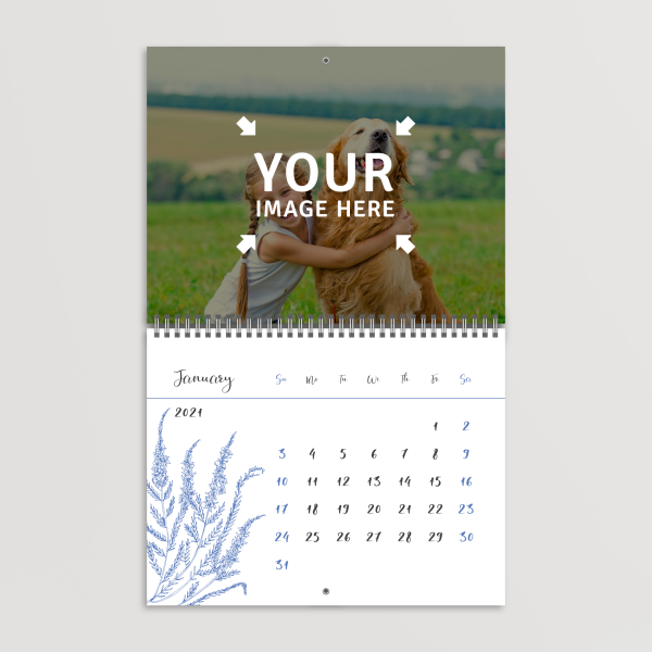 Download Field Flowers Photo Calendar - Printable PDF