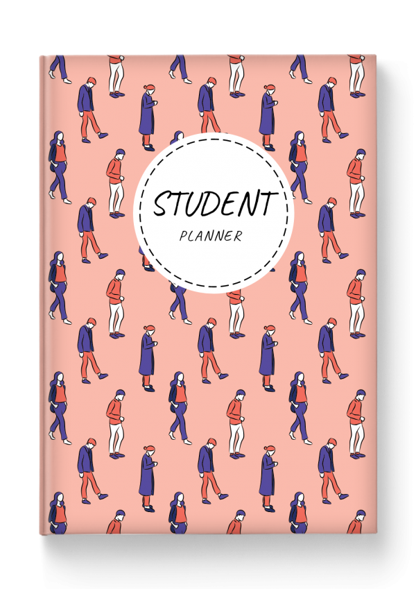 Printable Student Planner Hardcover - Casual Style PDF Download