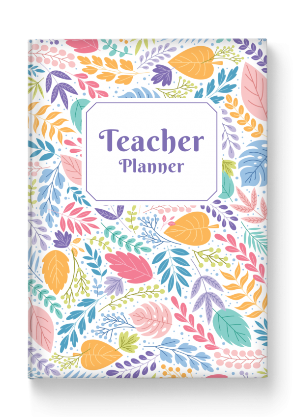 Printable Teacher Planner Hardcover - Floral Style PDF Download