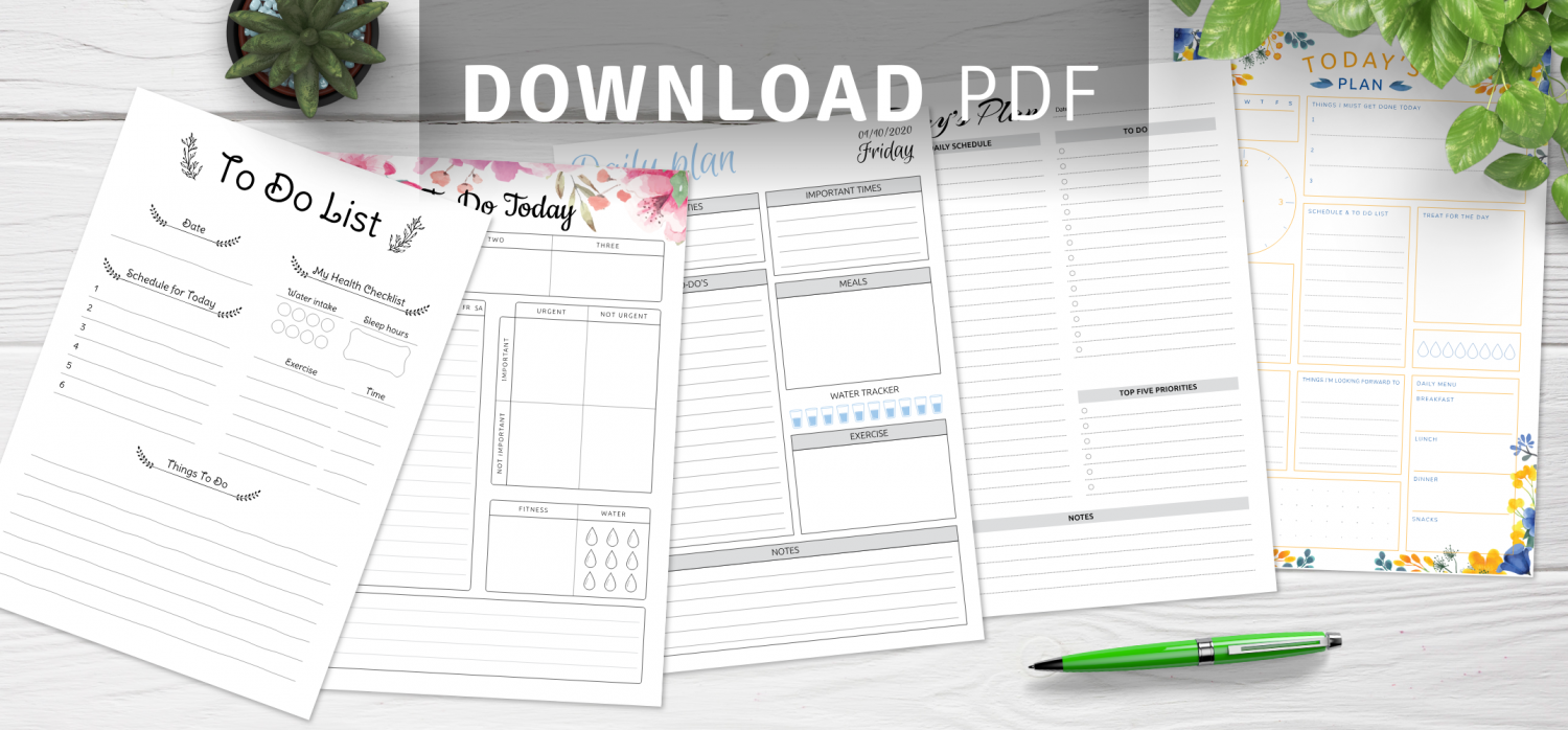 Download daily task list templates