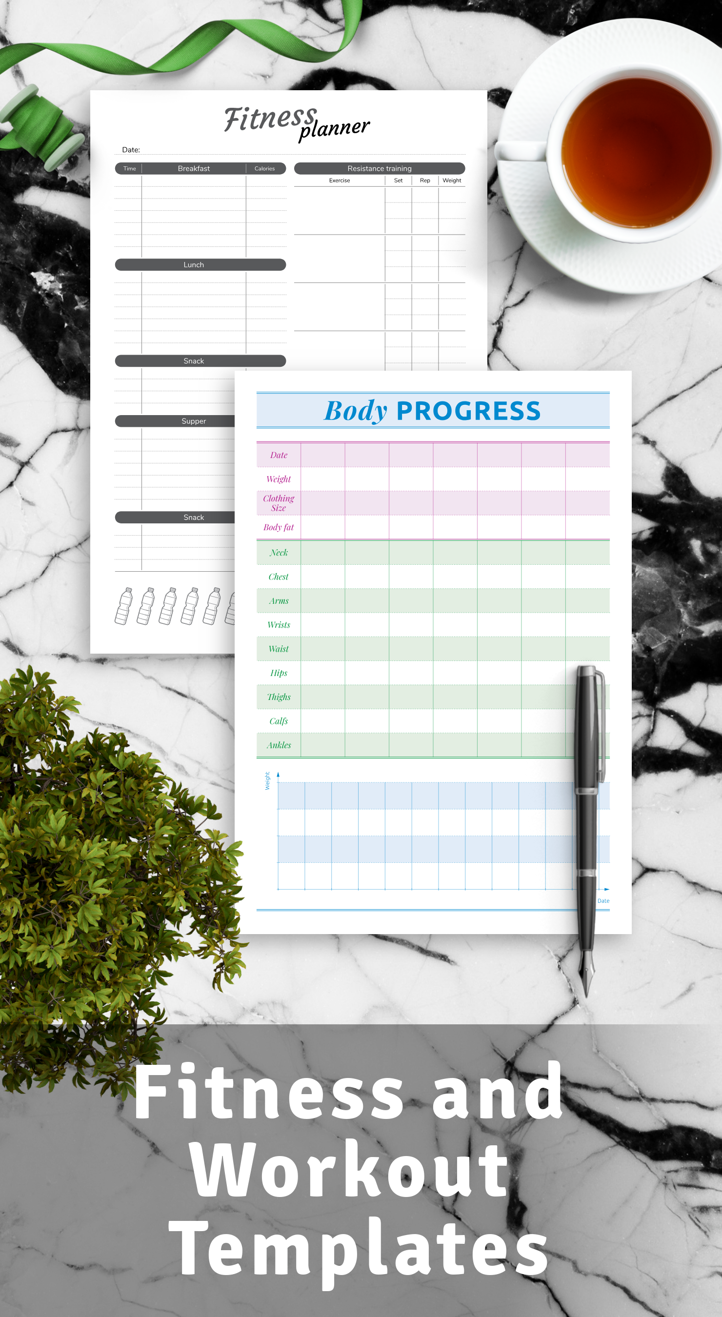 Printable Fitness and Workout Templates