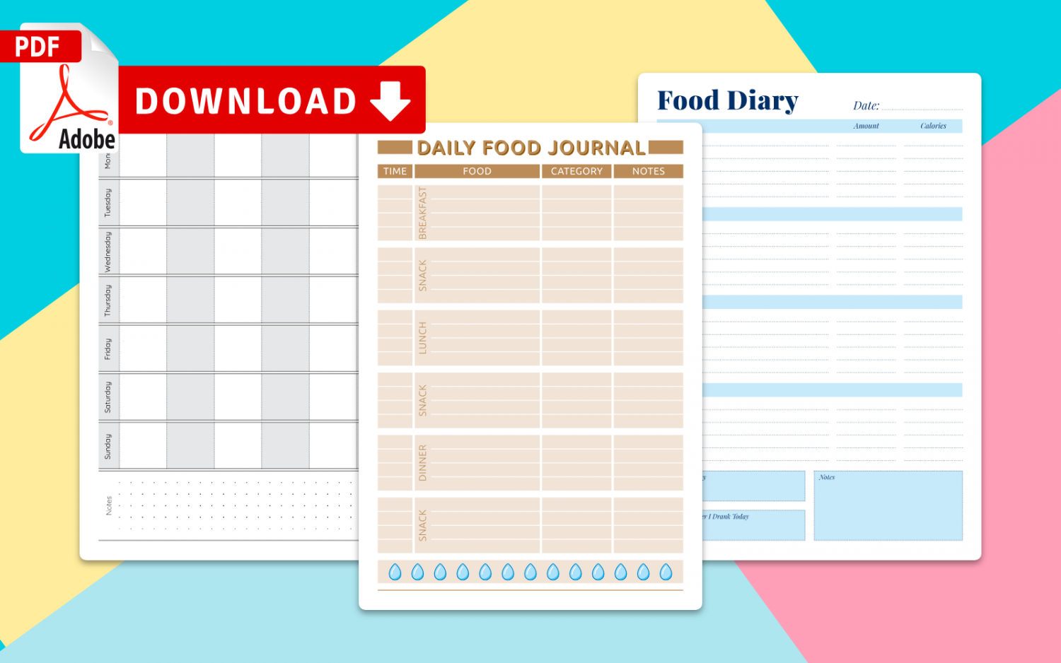 Choose Food Diary Templates