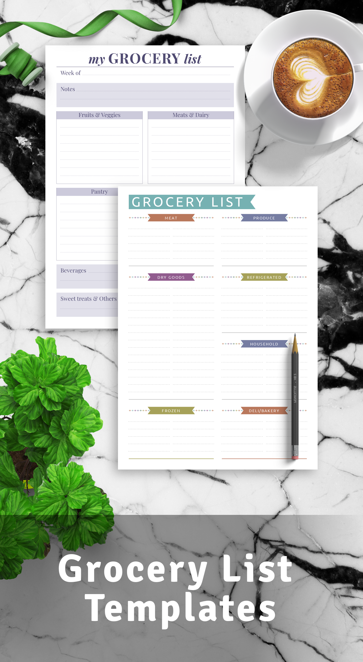 Best Grocery List Templates