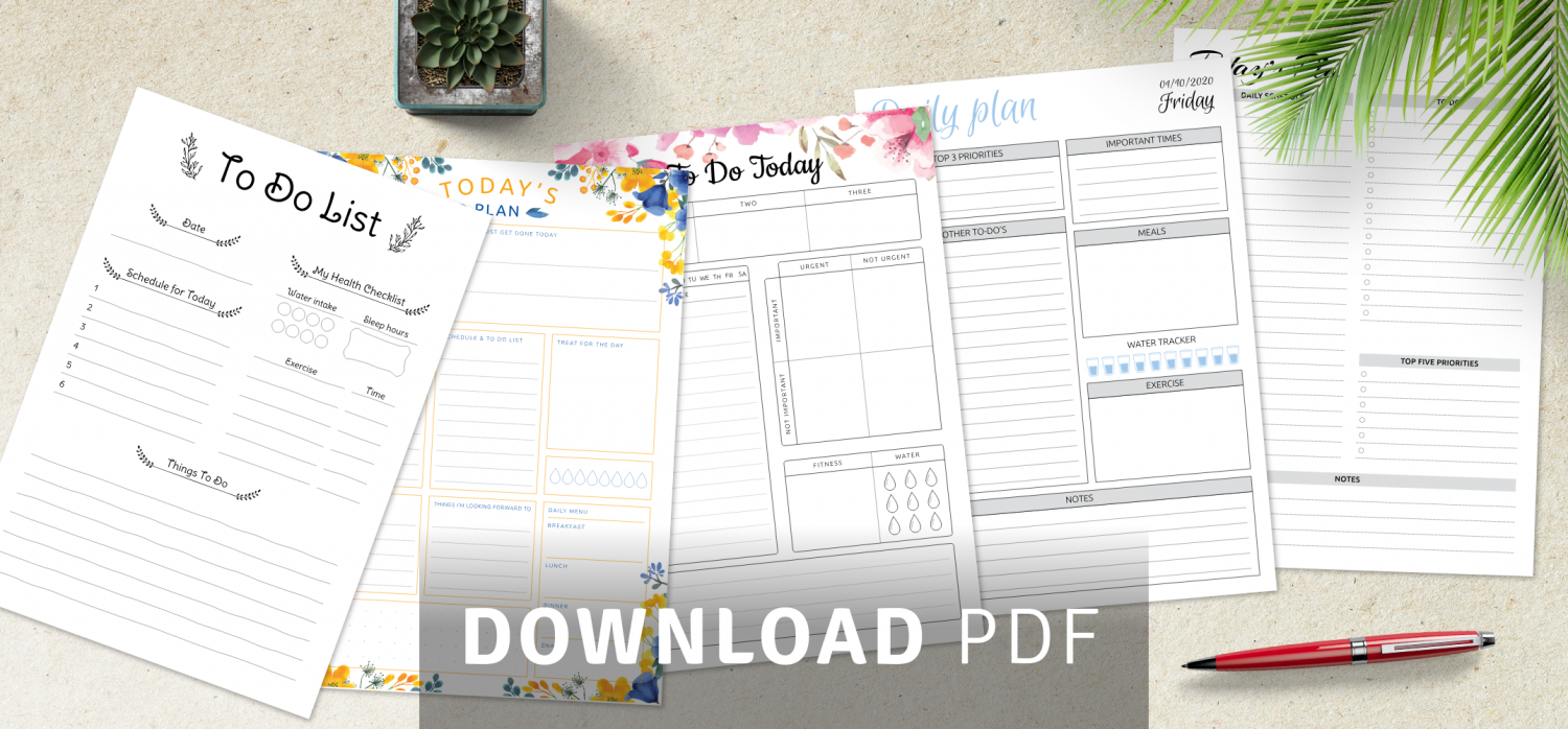 Download daily job task list templates