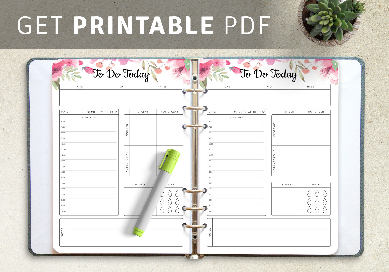 Printable job task list templates