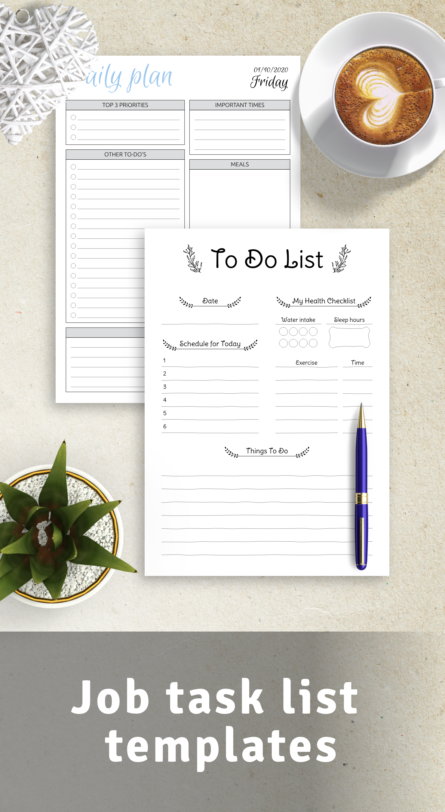 Get job task list templates