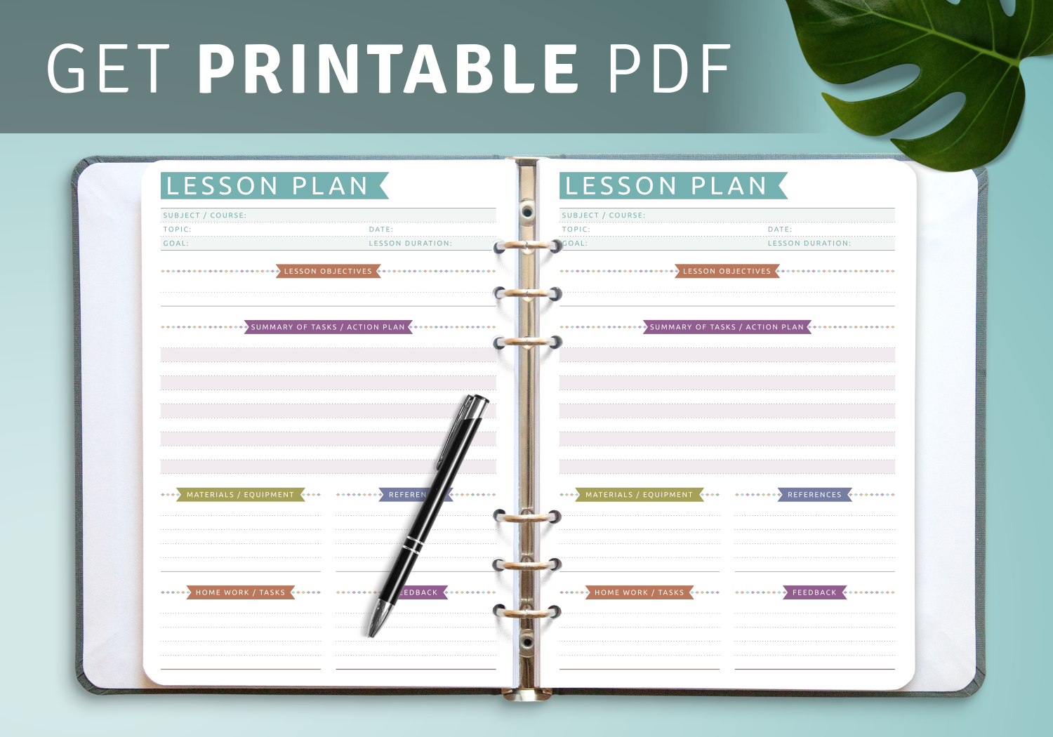 Printable Lesson Plan templates for Teachers