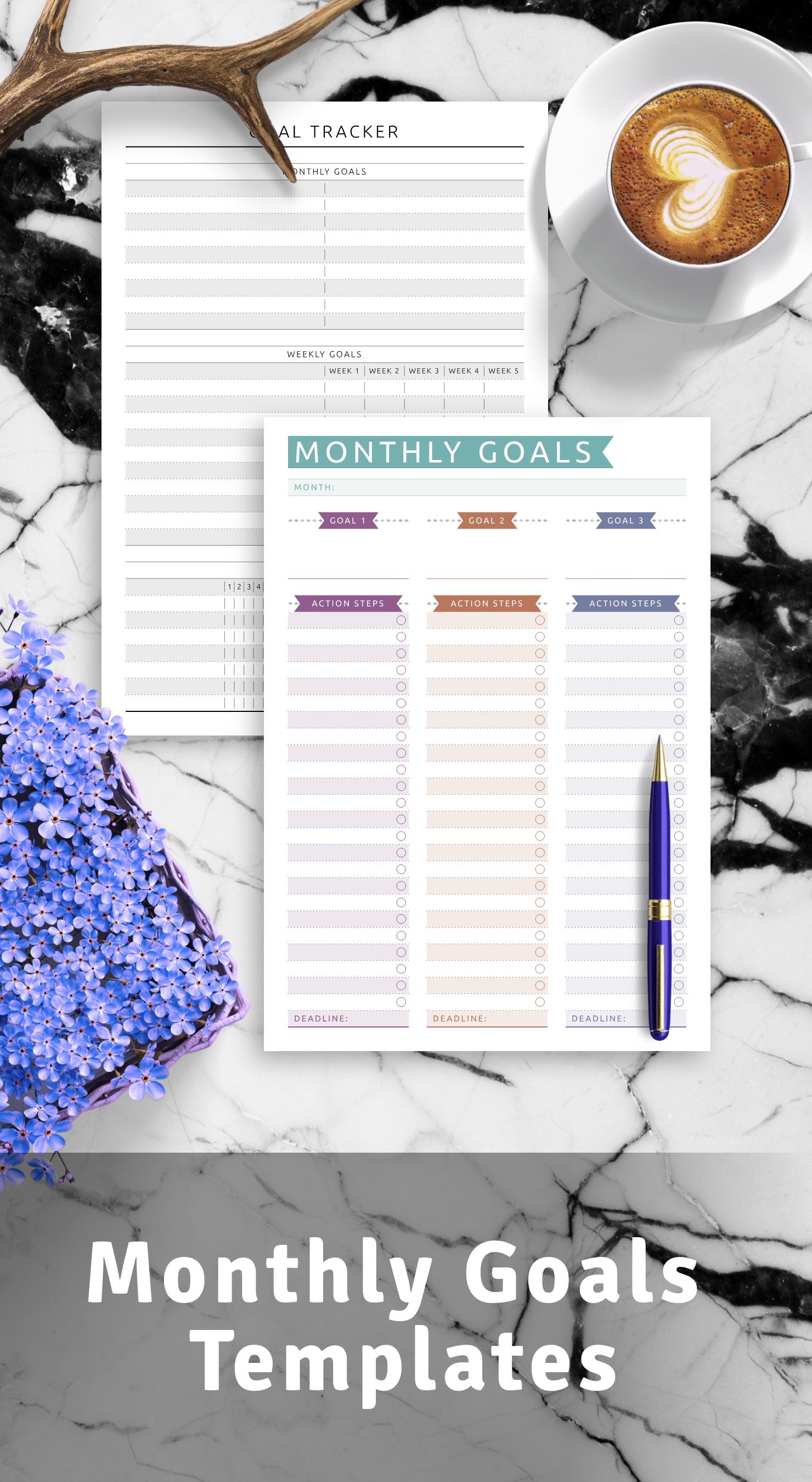 Best Monthly Goals Templates