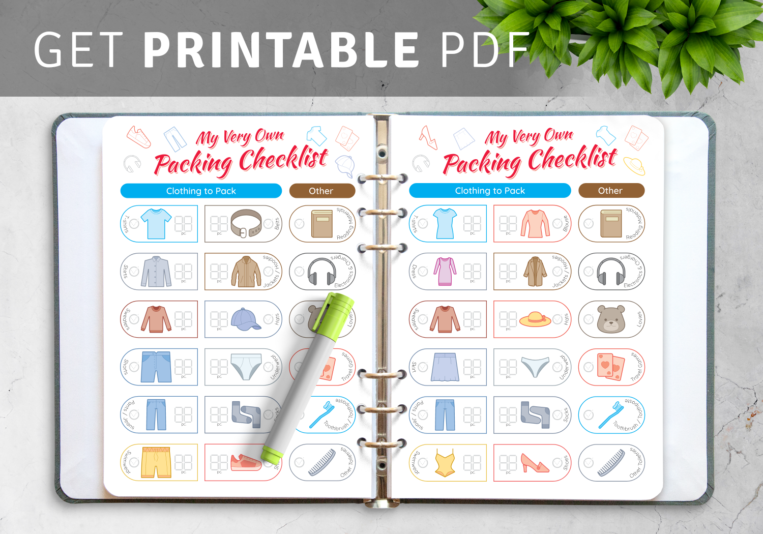 Packing List Templates PDF