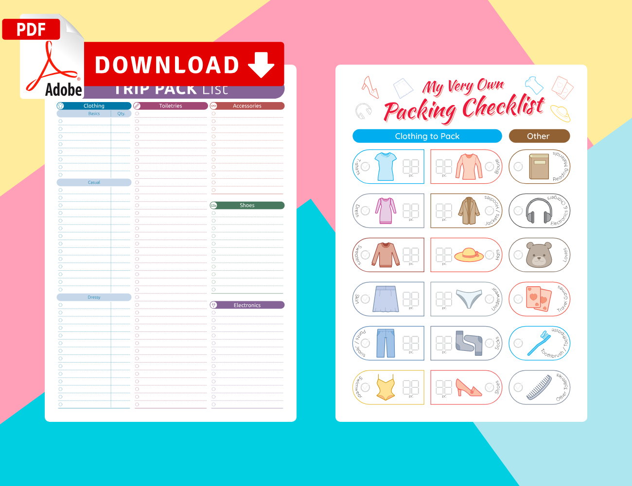 Printable Packing List Templates