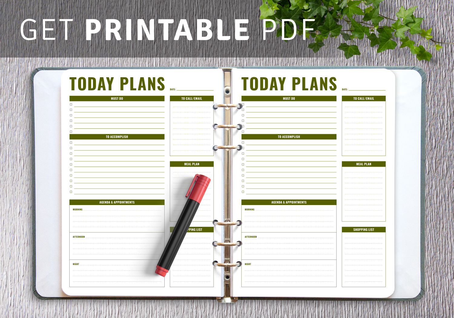 Printable Prioritized Daily Task List Templates
