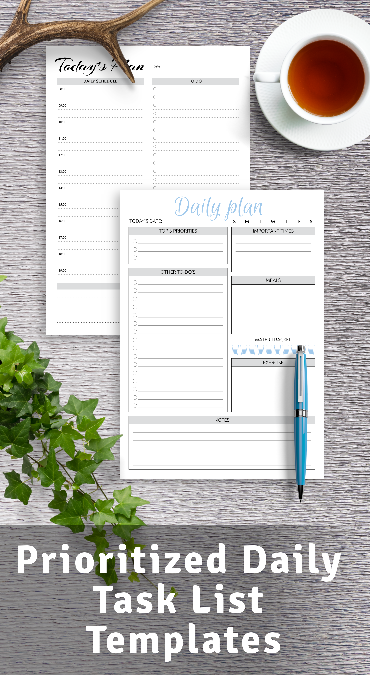 Daily Task List Templates PDF