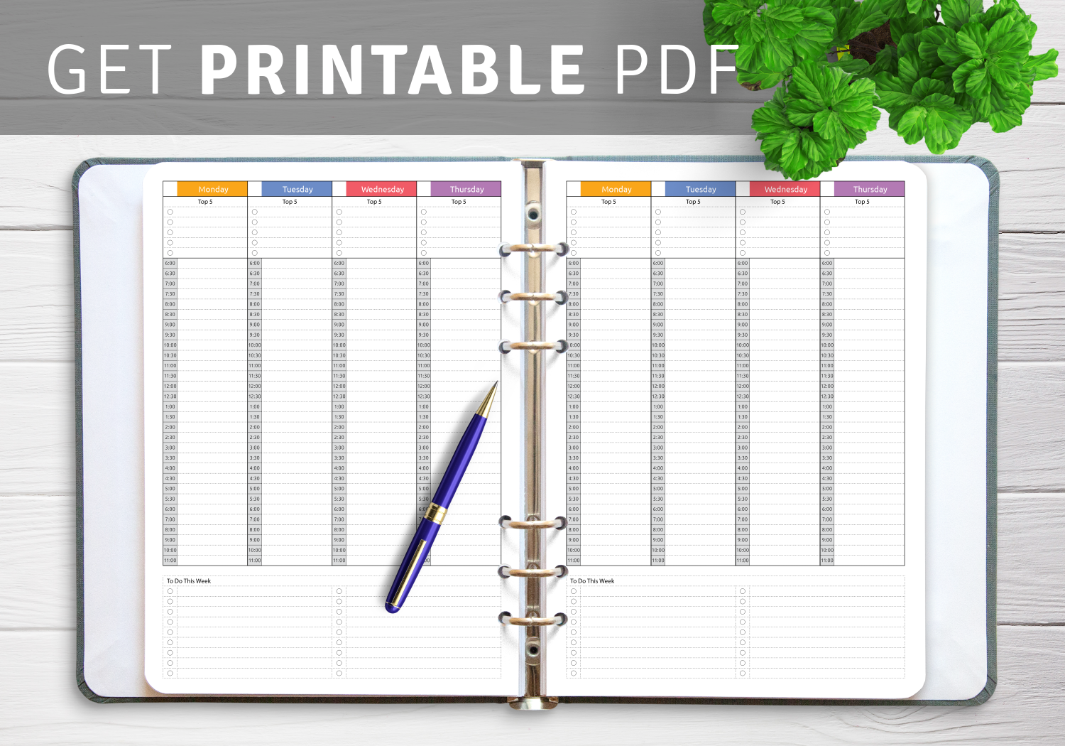 Printable Sample Schedule Templates
