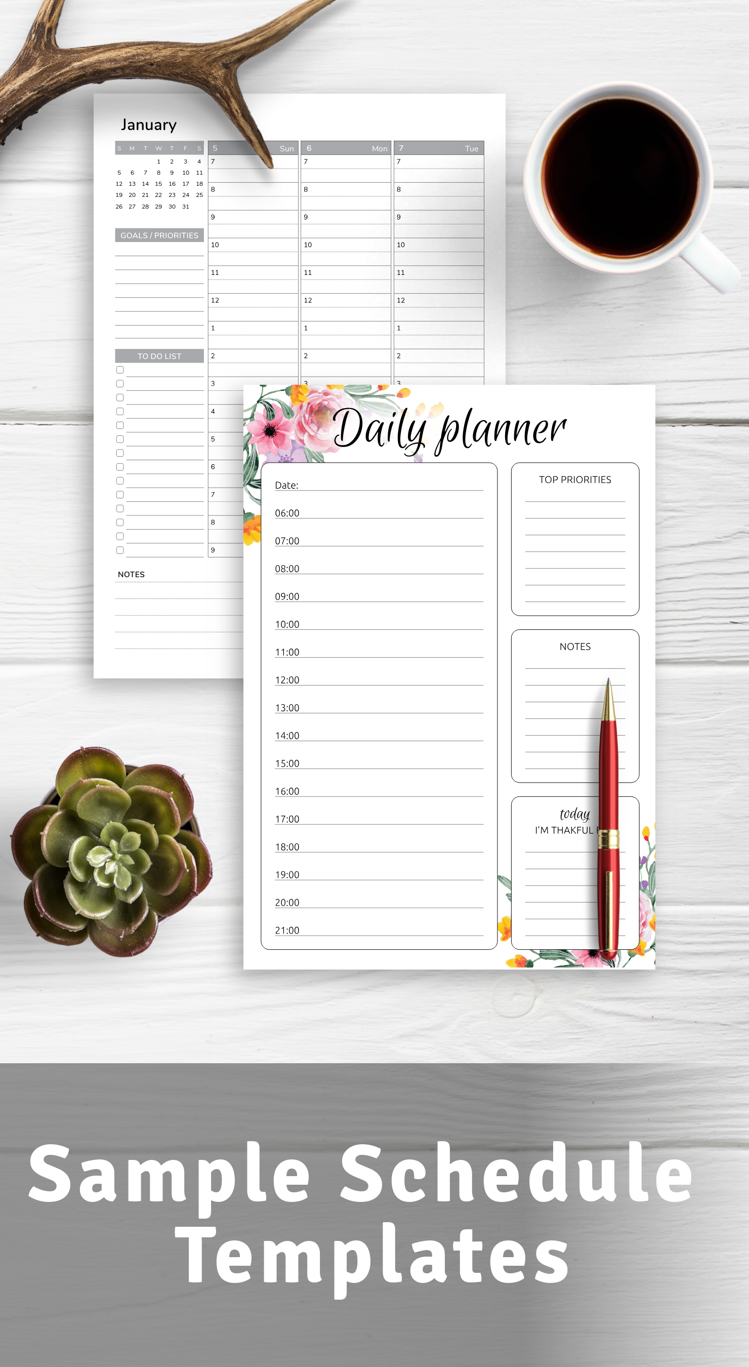 Sample Schedule Templates PDF