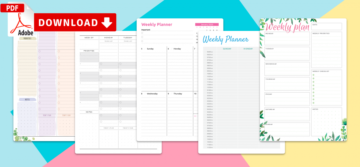 Best Printable Planner Templates