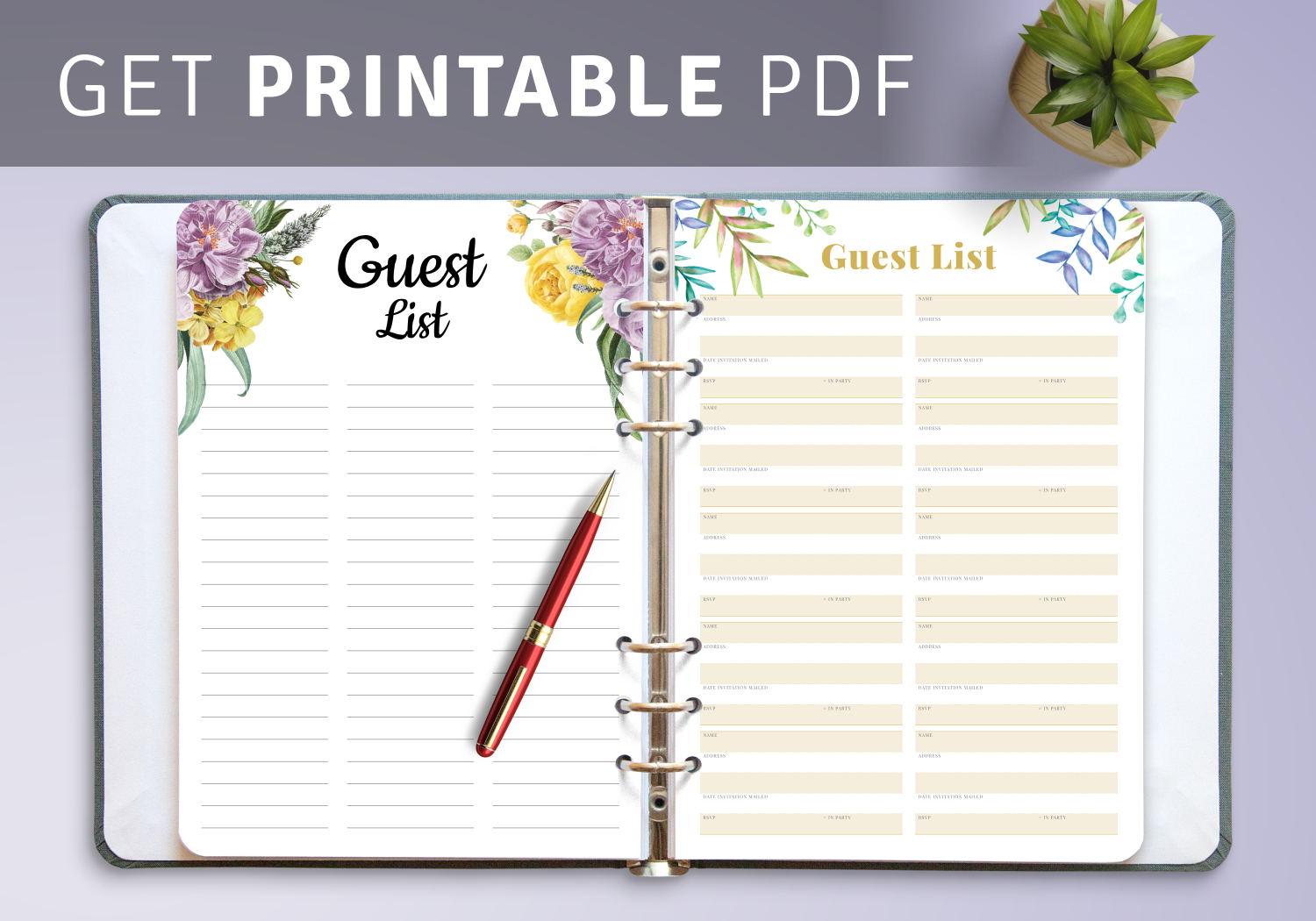 Best Wedding Guest List Templates
