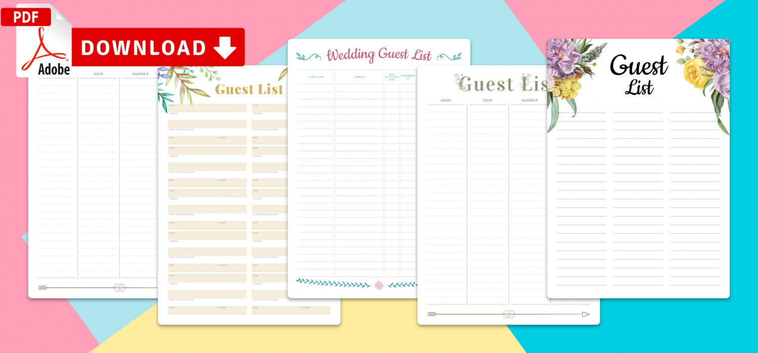 Download Guest List Templates