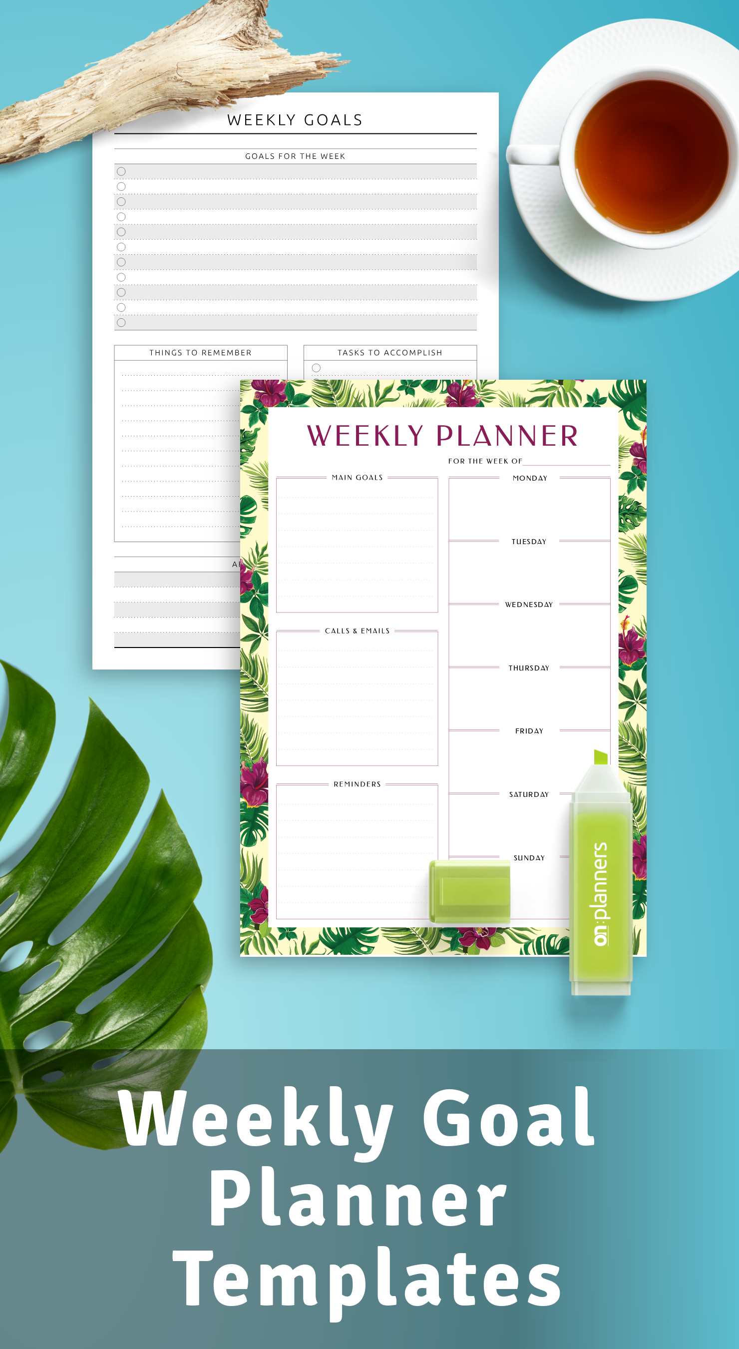 Download Weekly Goal Planner Templates