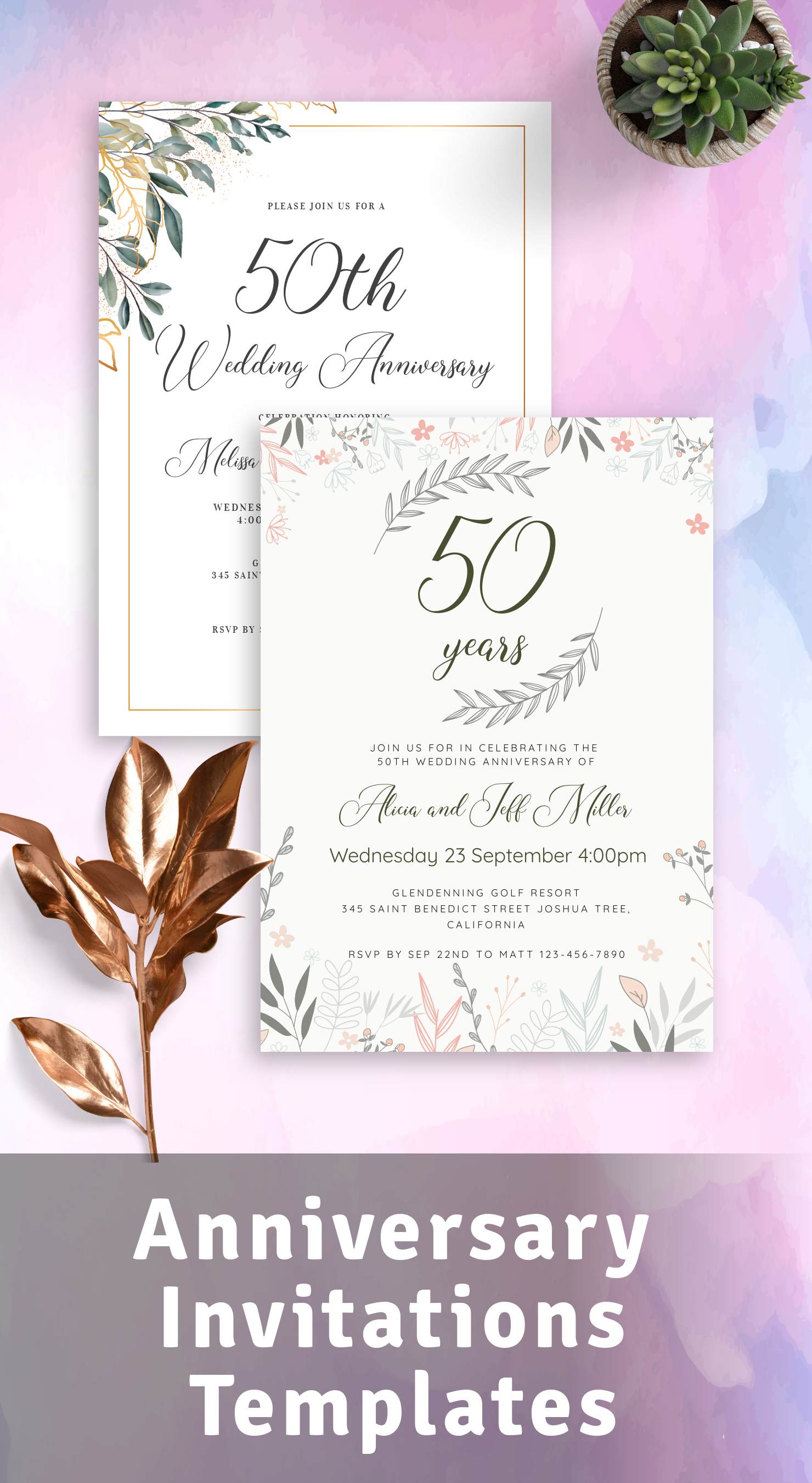 Best Anniversary Invitations Templates