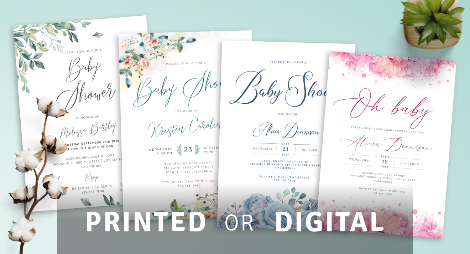 Printed or Digital Baby Shower Invites