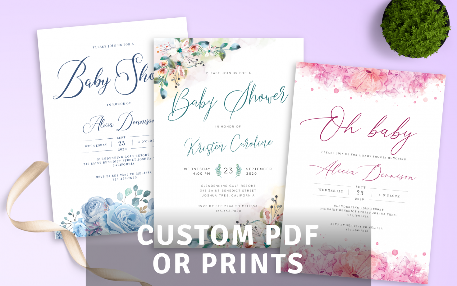 Download or Print Baby Shower Invitations