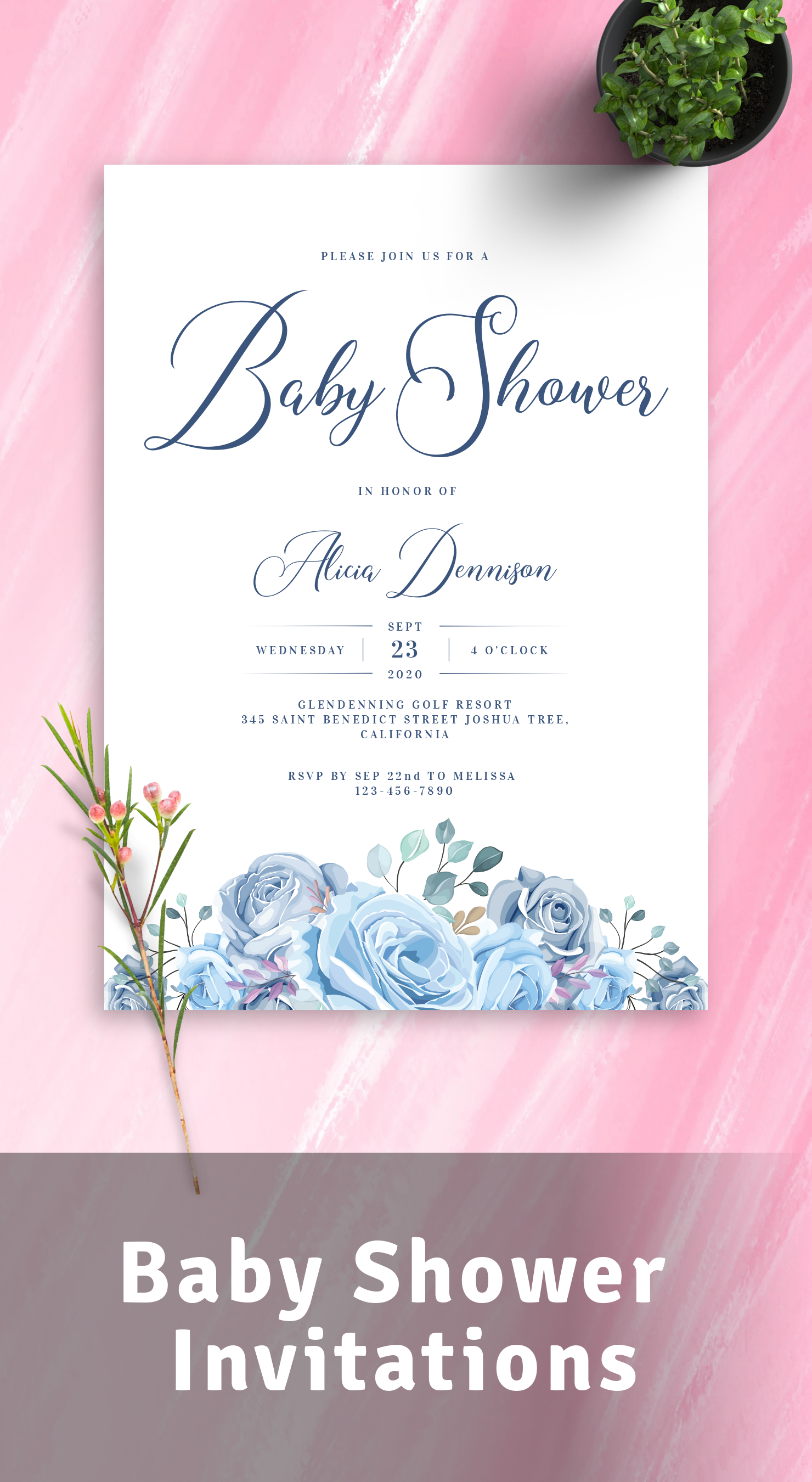 Customize and Print Baby Shower Invites
