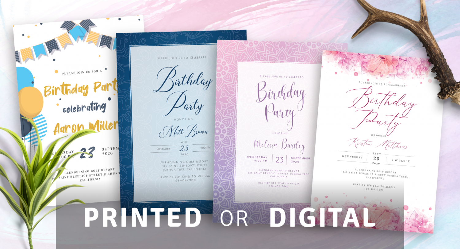 Custom Birthday Invitation Templates