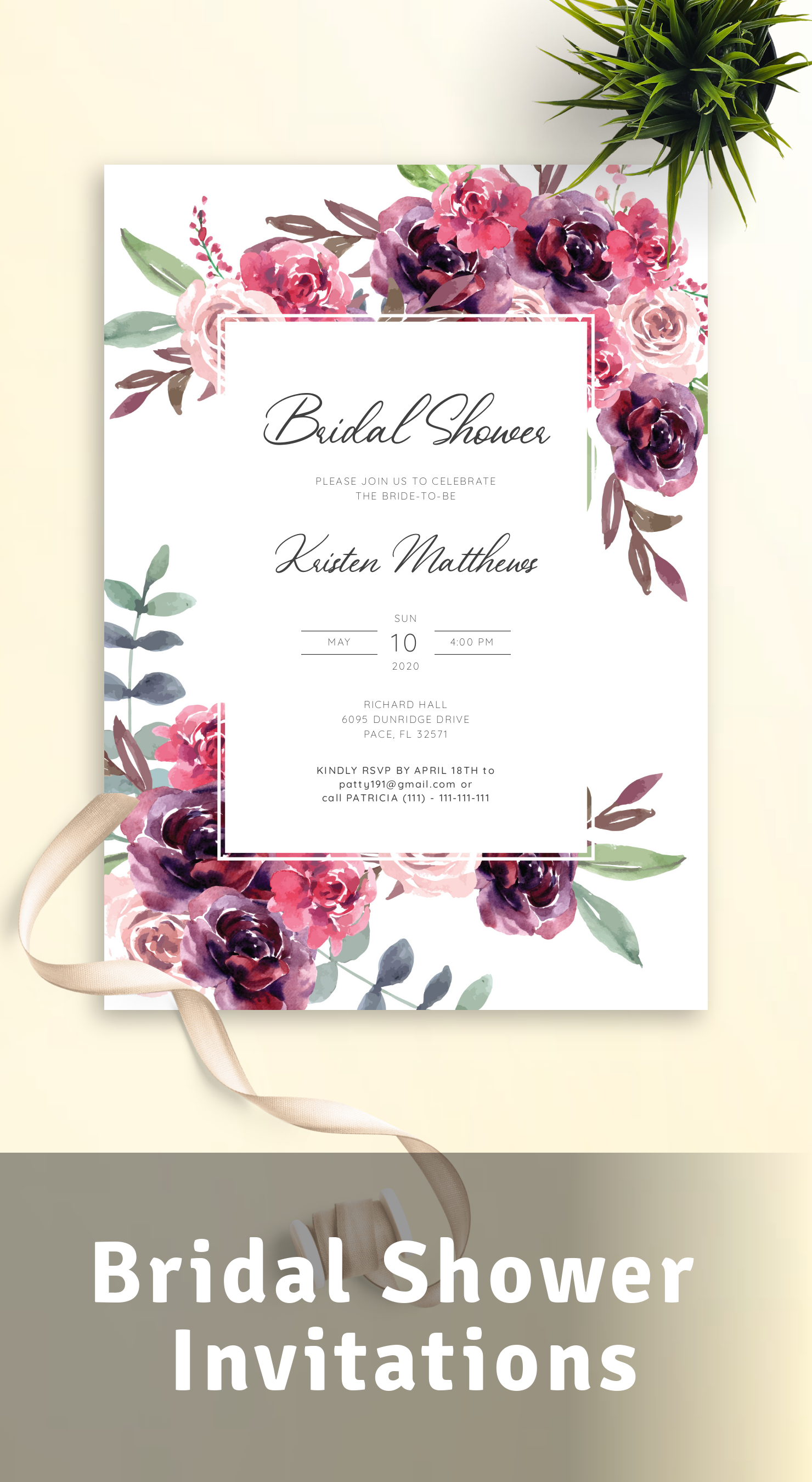 Download or Print Bridal Shower Invitations