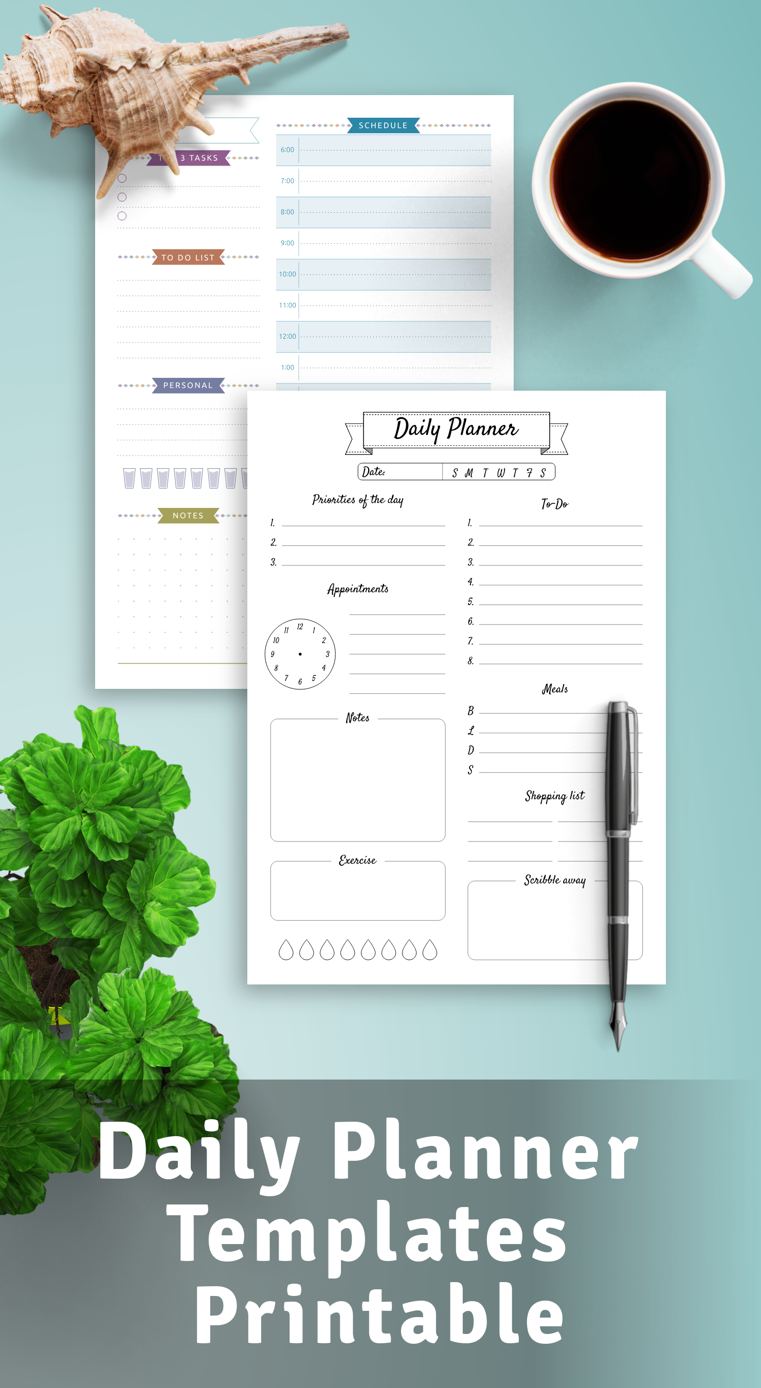 Get Printable Daily Planner Templates