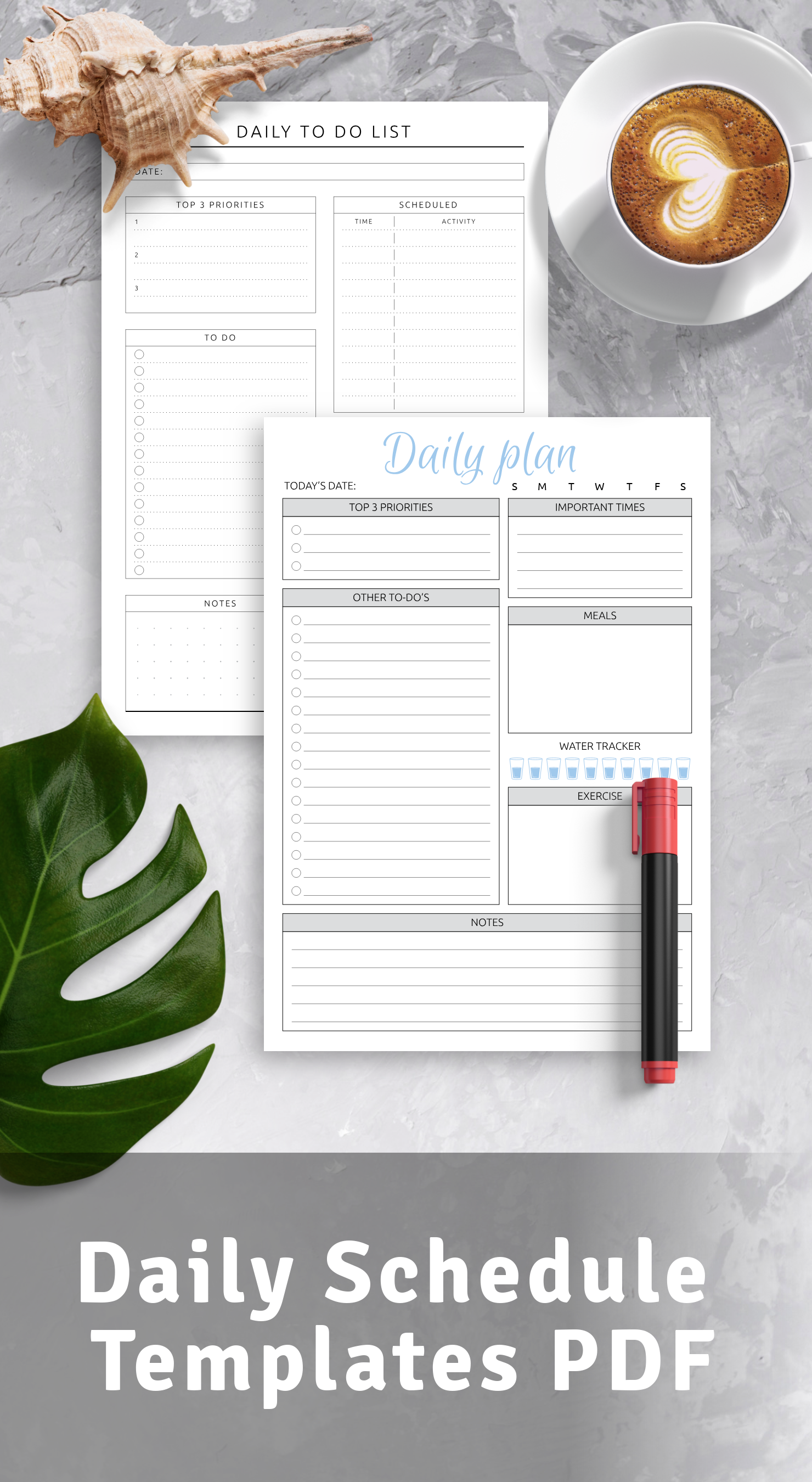 Blank Daily Schedule Templates PDF