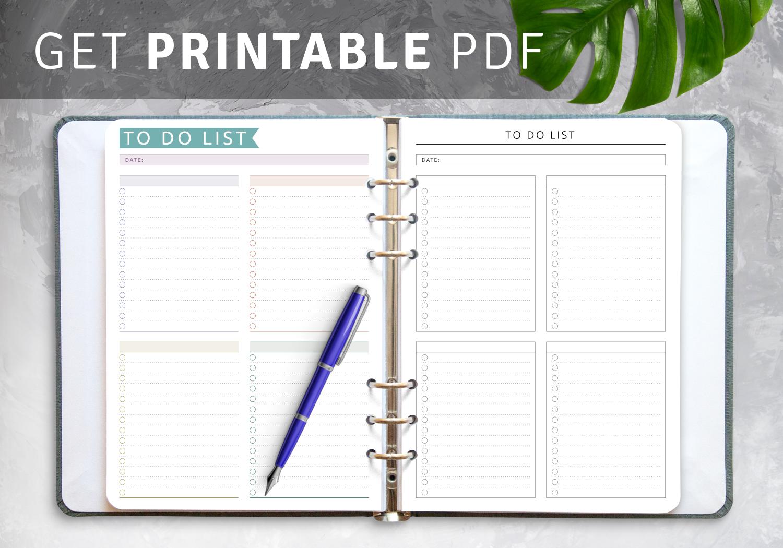 To Do List Templates   Download Task List PDF