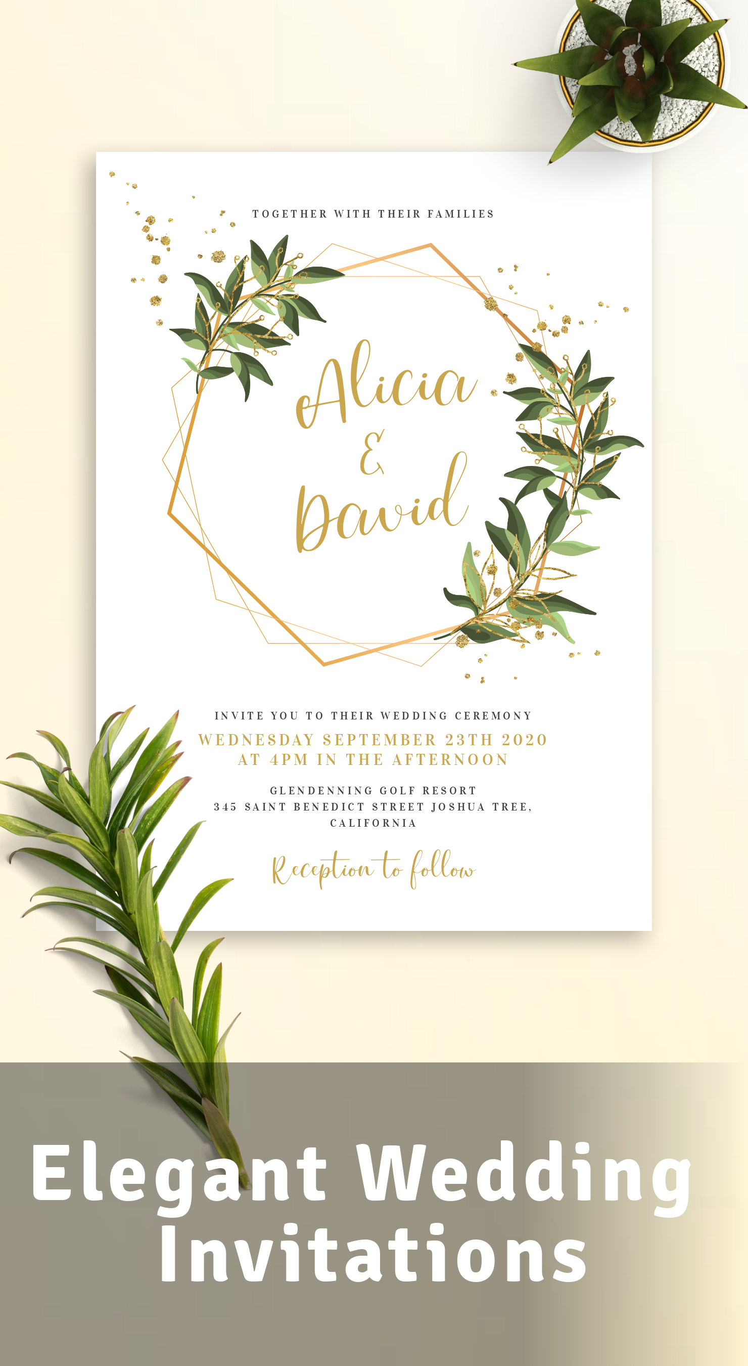 Custom Elegant Wedding Invitations