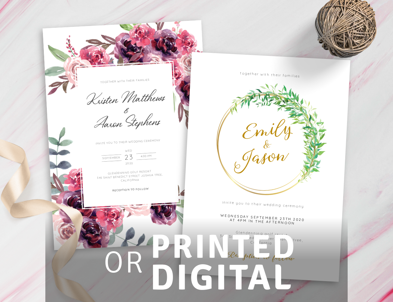 Customize Fancy Wedding Invitations Templates